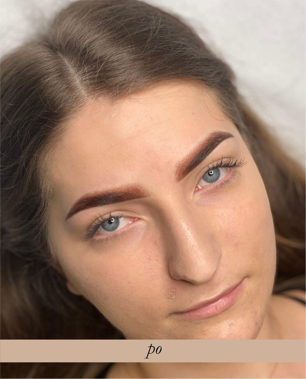 Makijaż permanentny brwi- metoda pudrowa